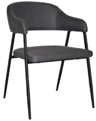 ARM CHAIR MALMO METAL BLACK + GRAVITY SLATE