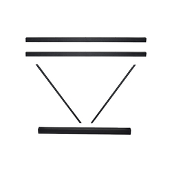A FRAME CROSSRAIL SET 1200MM BLACK