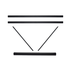 A FRAME CROSSRAIL SET 1800MM BLACK