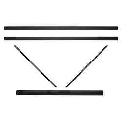 A FRAME CROSSRAIL SET 2100MM BLACK