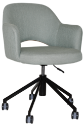 ARM CHAIR ALBURY CASTOR BLACK + GRAVITY CLOUD