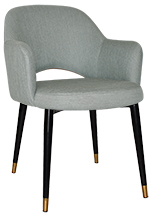 ARM CHAIR ALBURY BRASSCOPPERBLK/BRASS