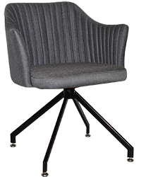 ARM CHAIR COOGEE TRESTLE BLACK + GRAVITY SLATE