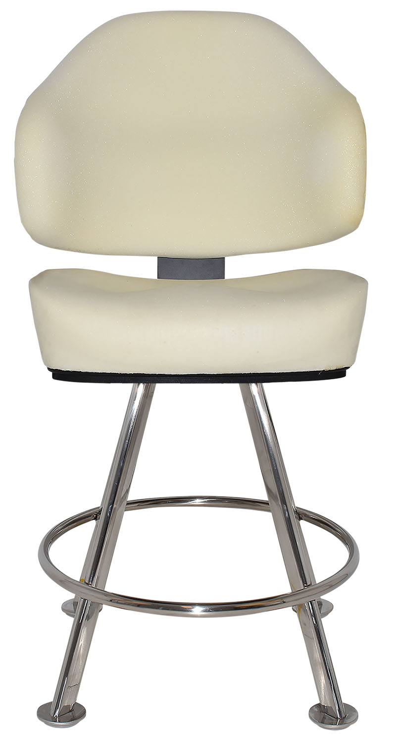 GAMING STOOL LUXOR 4LEG POLISHED S/S + UNUPHOLSTERED