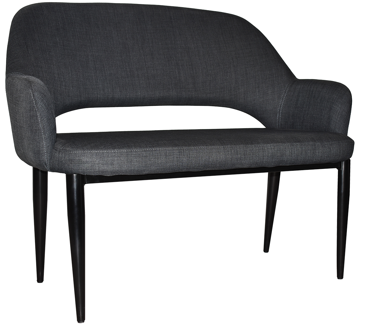 LOUNGE ALBURY 2 SEATER + FABRIC CHARCOAL
