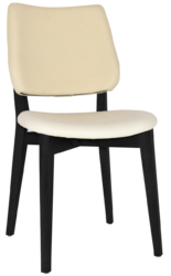 CHAIR DAKOTA BLACK - UNUPHOLSTERED (BACK & SEAT)