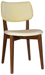 CHAIR PHOENIX LIGHTWALNUT - UNUPHOLSTERED (BACK & SEAT)