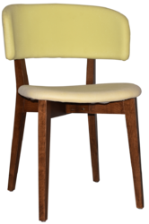 CHAIR TORINO LIGHTWALNUT - UNUPHOLSTERED (BACK & SEAT)