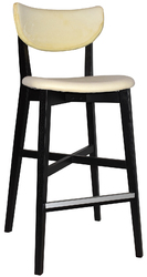STOOL RIALTO BLACK - UNUPHOLSTERED (BACK & SEAT)