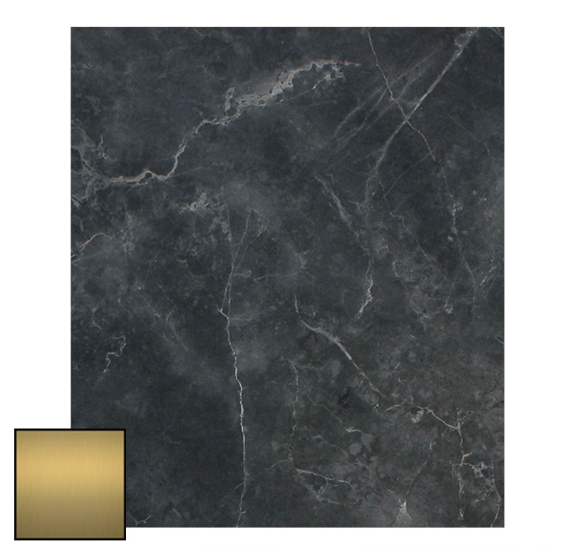 EZTOP BRASS EDGE 1200 X 800 BLACK MARBLE