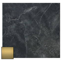 EZTOP BRASS EDGE SQ 800MM BLACK MARBLE